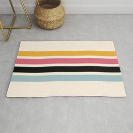 Yoshiharu - Classic Pop Culture Retro Stripes Rug