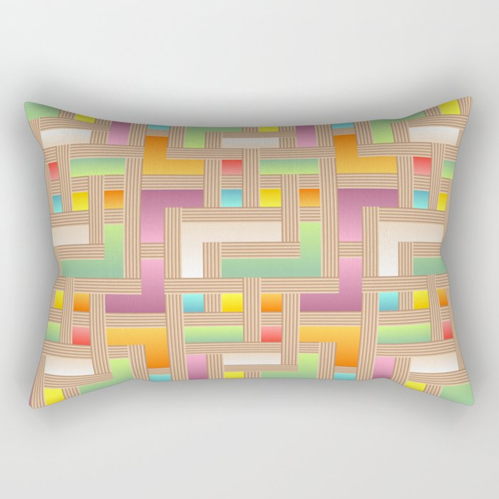 Abstract Colorful Labyrinth Rectangular Pillow