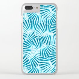 Blue Seashell Clear iPhone Case