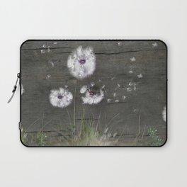 Rustic Barn Wood Series: Dandelion Seeds Fly Away Laptop Sleeve