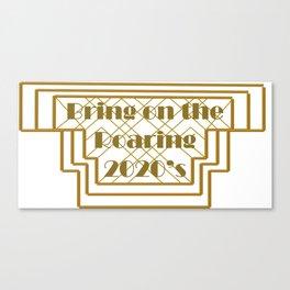 New Year Roaring 2020's Art Deco Canvas Print