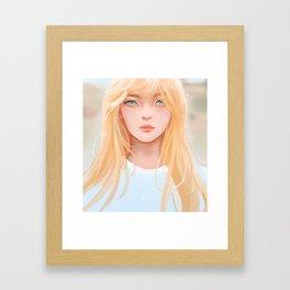 Irene RED VELVET Framed Art Print