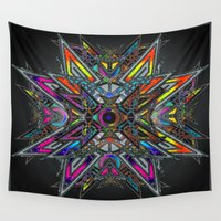 stained glass Wall Tapestries featuring Stained Glass by superferretIX