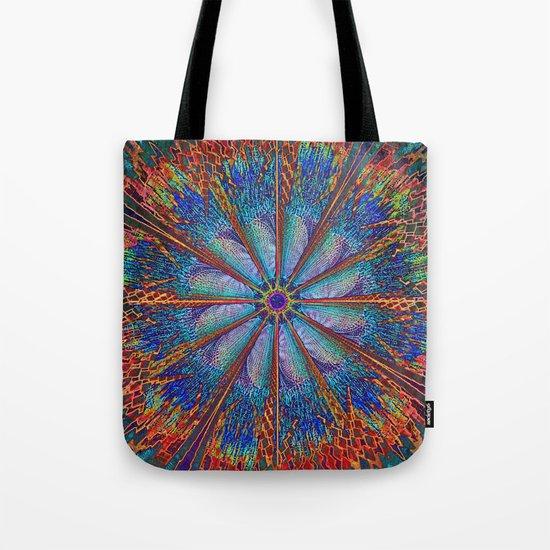 Mandala - Fire Wheel Tote Bag