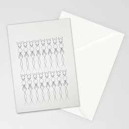 One line nude Stationery Cards