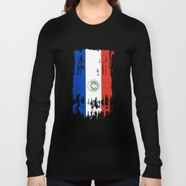 PY PRY Paraguay Flag Long Sleeve T-shirt