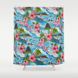 Hawaiian Scenes Shower Curtain