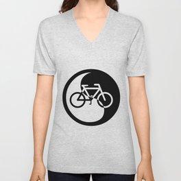 yin yang bicycle Unisex V-Neck