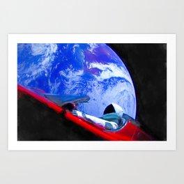 Tesla's Starman Art Print