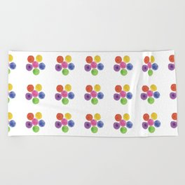 In Living Color Beach Towel