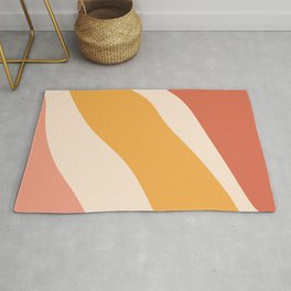 Abstract Sunset in Desert Rug