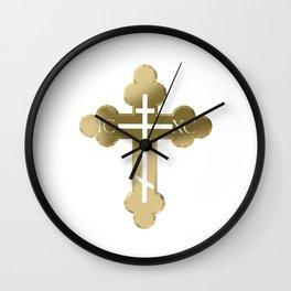Russian orthodox cross Wall Clock