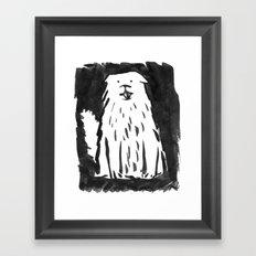 fluffy dog Framed Art Print