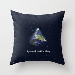 Pyramid earth society Throw Pillow