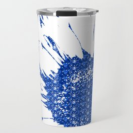 Sparkley Blue Flower Travel Mug