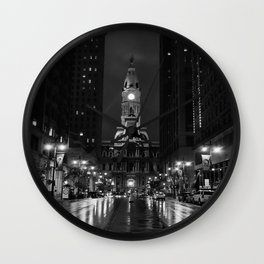 City of Brotherly Love [B+W] Wall Clock