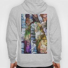 White Aspen and  Birch Trees Contemporary Art Hoody