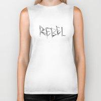 rebel Biker Tanks featuring Rebel by Victoria Schiariti