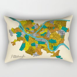 Pittsburgh Neighborhoods Rectangular Pillow