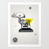 psychology Art Prints featuring Archetypes Series: Dignity by Attitude Creative