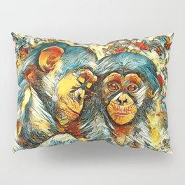 AnimalArt_Chimpanzee_20170601_byJAMColorsSpecial Pillow Sham