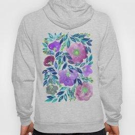 hand painted flowers_1b Hoody