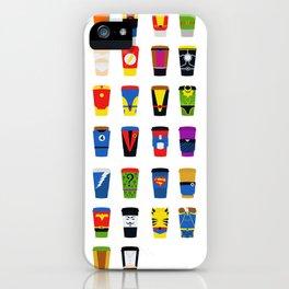 Superheroes Villains Mix  iPhone Case