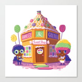 Hansel and Gretel Sweet Shop Canvas Print