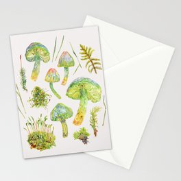 Parrot Toadstools and Moss - Neutral Stationery Cards