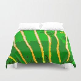 Green Bongo Stripes Duvet Cover