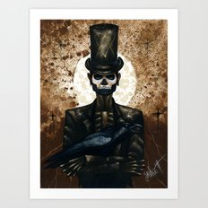 Shadow Man 2 Art Print