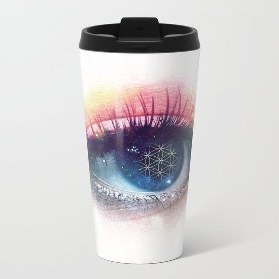 Flower Of Life (Cosmic Vision) Metal Travel Mug