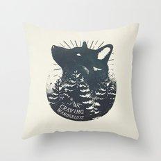 Craving wanderlust Throw Pillow