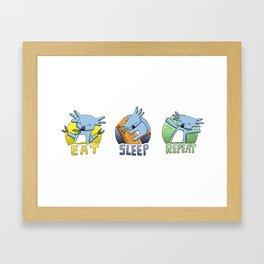 Cute Koala - Eat, Sleep, Repeat Framed Art Print