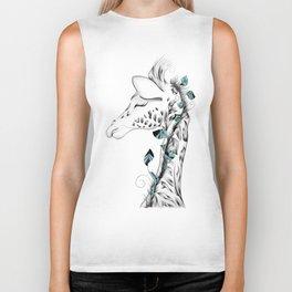 Poetic Giraffe Biker Tank