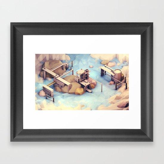 Port Harbor [Day] Framed Art Print