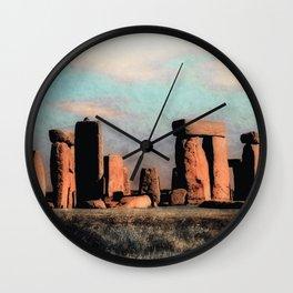 Mysterious Stonehenge Wall Clock