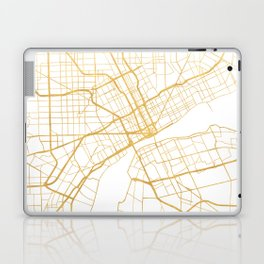 DETROIT MICHIGAN CITY STREET MAP ART Laptop & iPad Skin