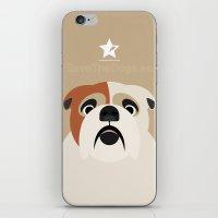 bulldog iPhone & iPod Skins featuring Bulldog by SaveTheDogs.es