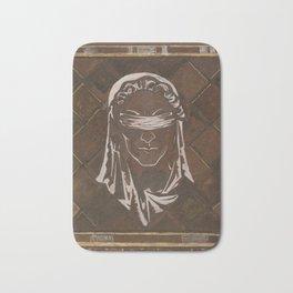 Head of the blindfolded Justitia Bath Mat