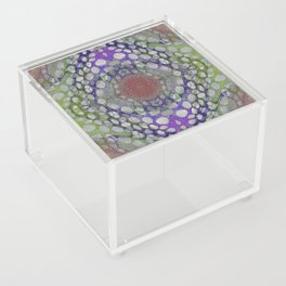 ORGANIC TIME TRAVELERS RIVER ROCKS ABSTRACT Acrylic Box