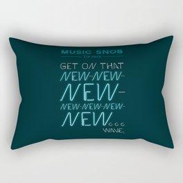 The NEW-New Wave — Music Snob Tip #629 Rectangular Pillow