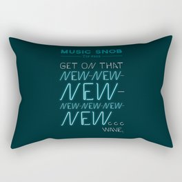 The NEW-New Wave — Music Snob Tip #629 Rectangular Pillow