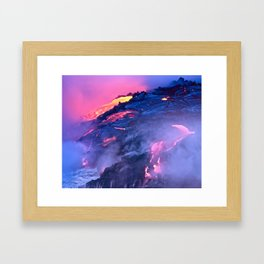 Kilauea Volcano Lava Flow. 4 Framed Art Print