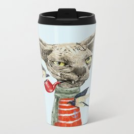 Sphynx cat Metal Travel Mug