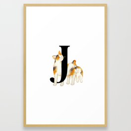 Cat Monogram Collection J Framed Art Print