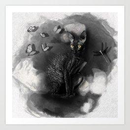 Cornish Rex No 10 Art Print