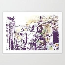 Manly x3 Art Print