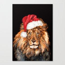 Christmas King Lion Canvas Print