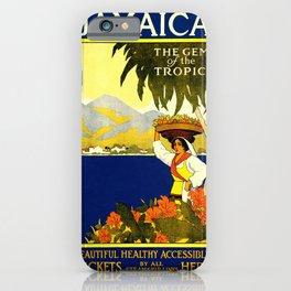 Poster travel Jamaica iPhone Case